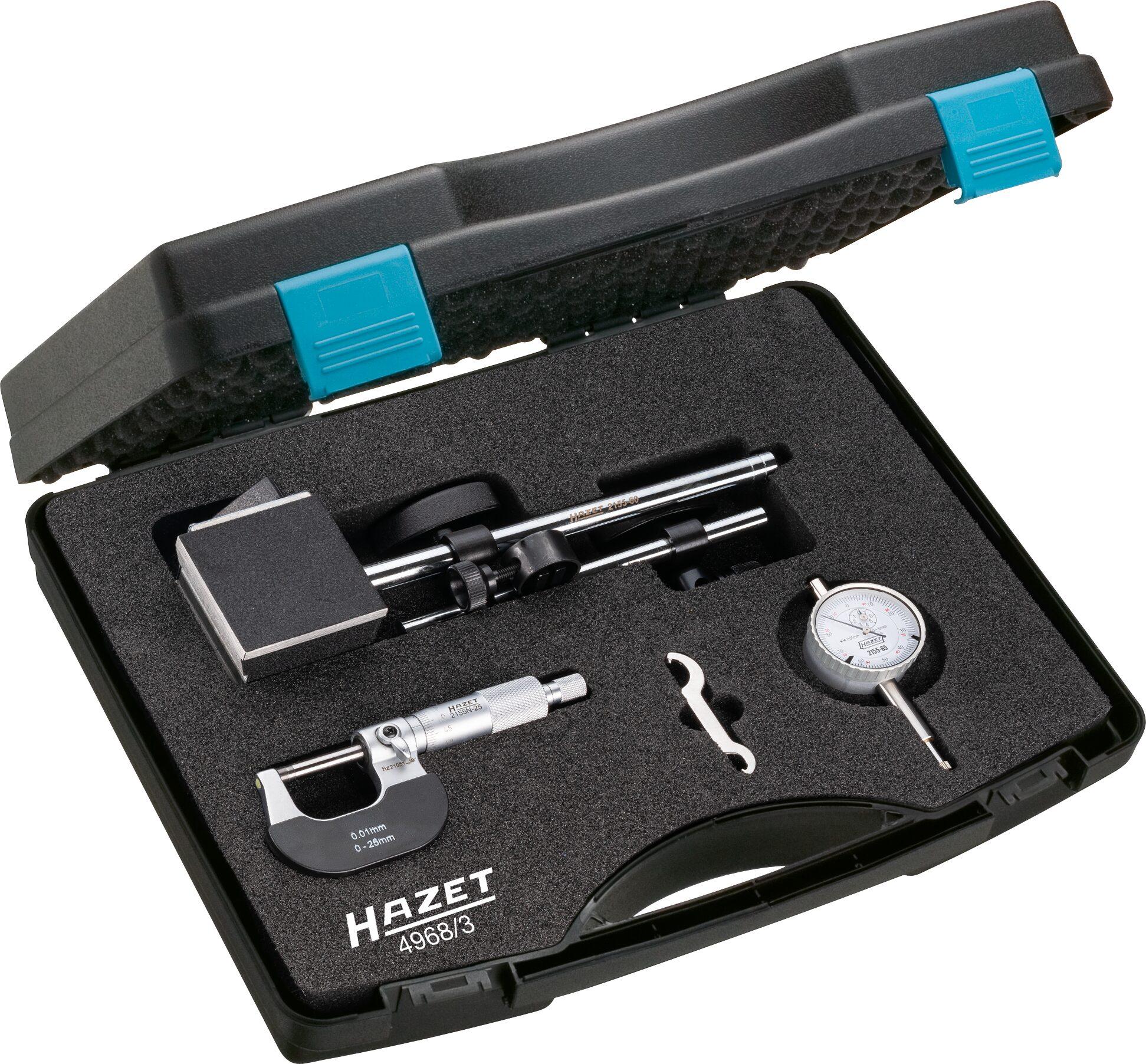 HAZET Bremsenprüf-Werkzeug Satz 4968/3 ∙ Anzahl Werkzeuge: 3