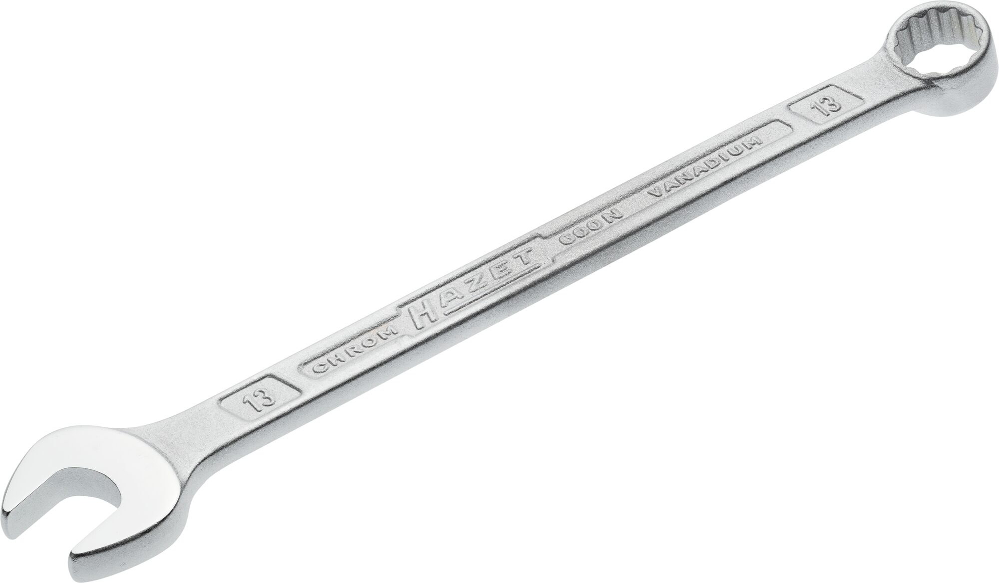 HAZET Ring-Maulschlüssel 600N-13 ∙ Außen-Doppel-Sechskant-Tractionsprofil ∙ 13 mm