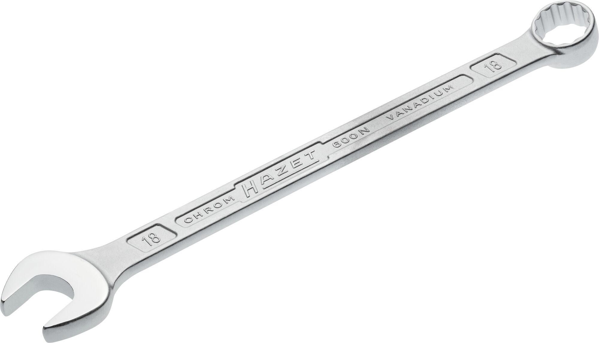 HAZET Ring-Maulschlüssel 600N-18 ∙ Außen-Doppel-Sechskant-Tractionsprofil ∙ 18 mm