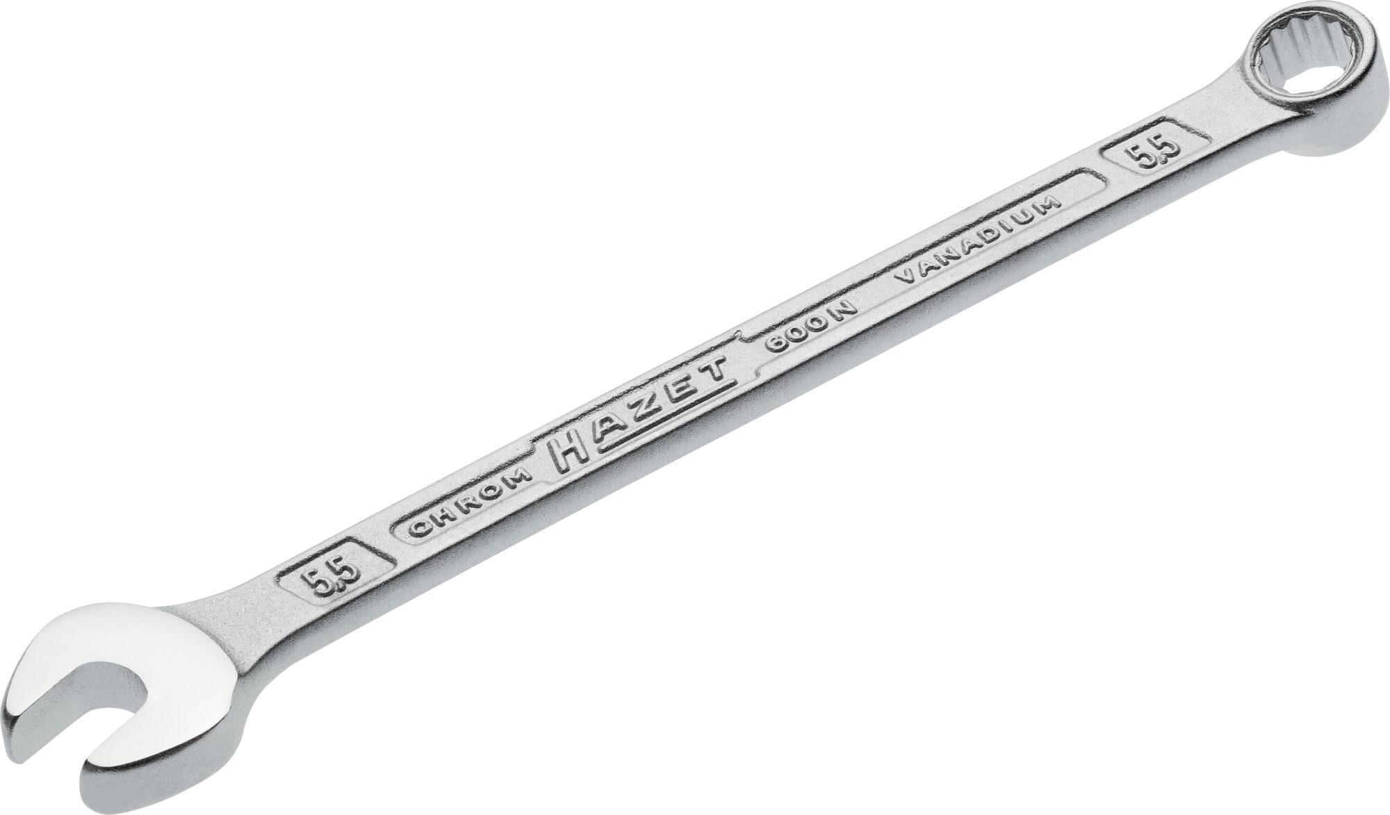 HAZET Ring-Maulschlüssel 600N-5.5 ∙ Außen-Doppel-Sechskant-Tractionsprofil ∙ 5.5 mm