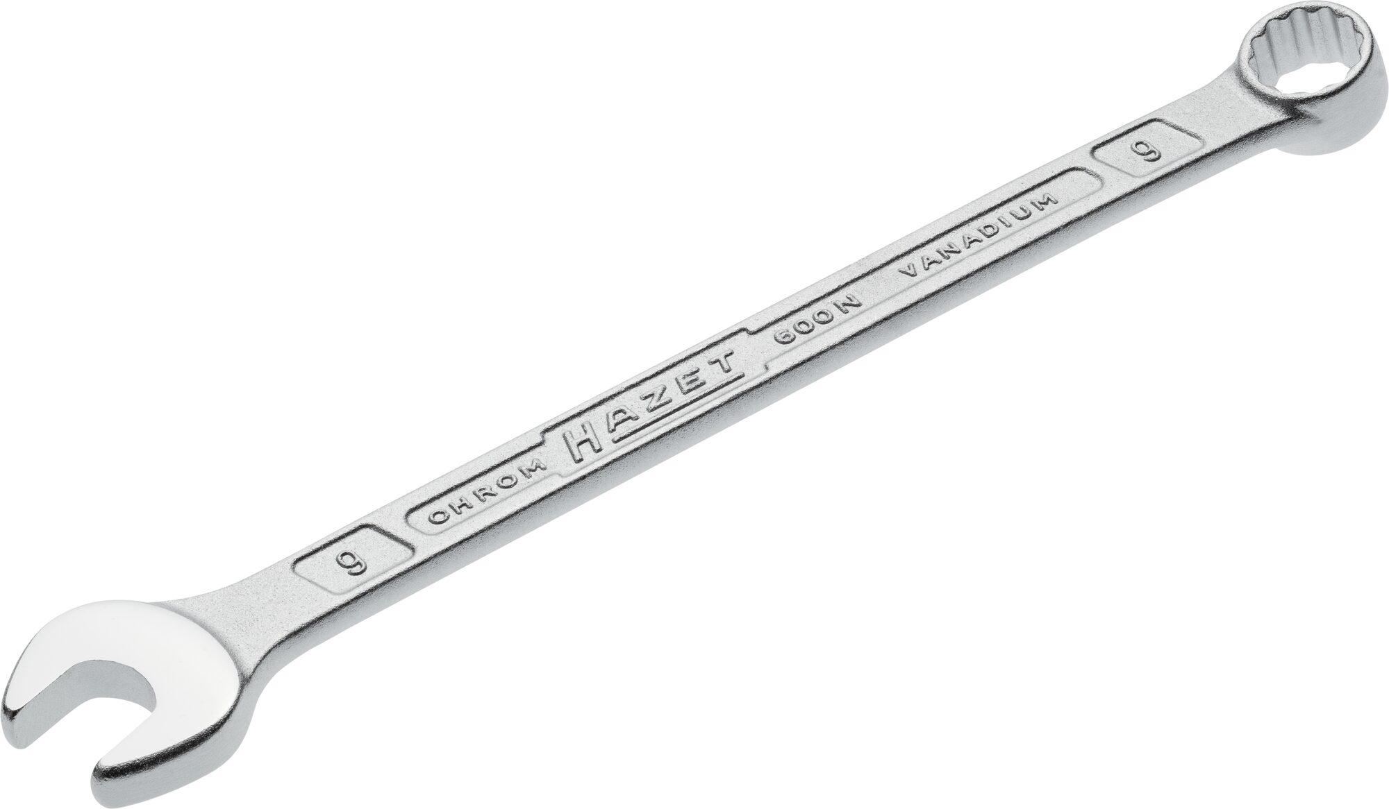 HAZET Ring-Maulschlüssel 600N-9 ∙ Außen-Doppel-Sechskant-Tractionsprofil ∙ 9 mm