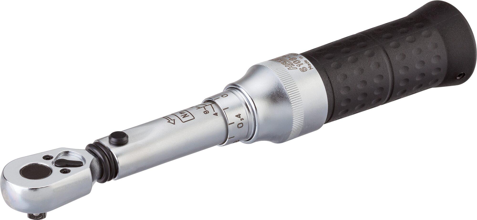 HAZET Drehmoment-Schlüssel 6108-1CT ∙ Nm min-max: 2–10 Nm ∙ Toleranz: 2% ∙ Vierkant massiv 6,3 mm (1/4 Zoll)