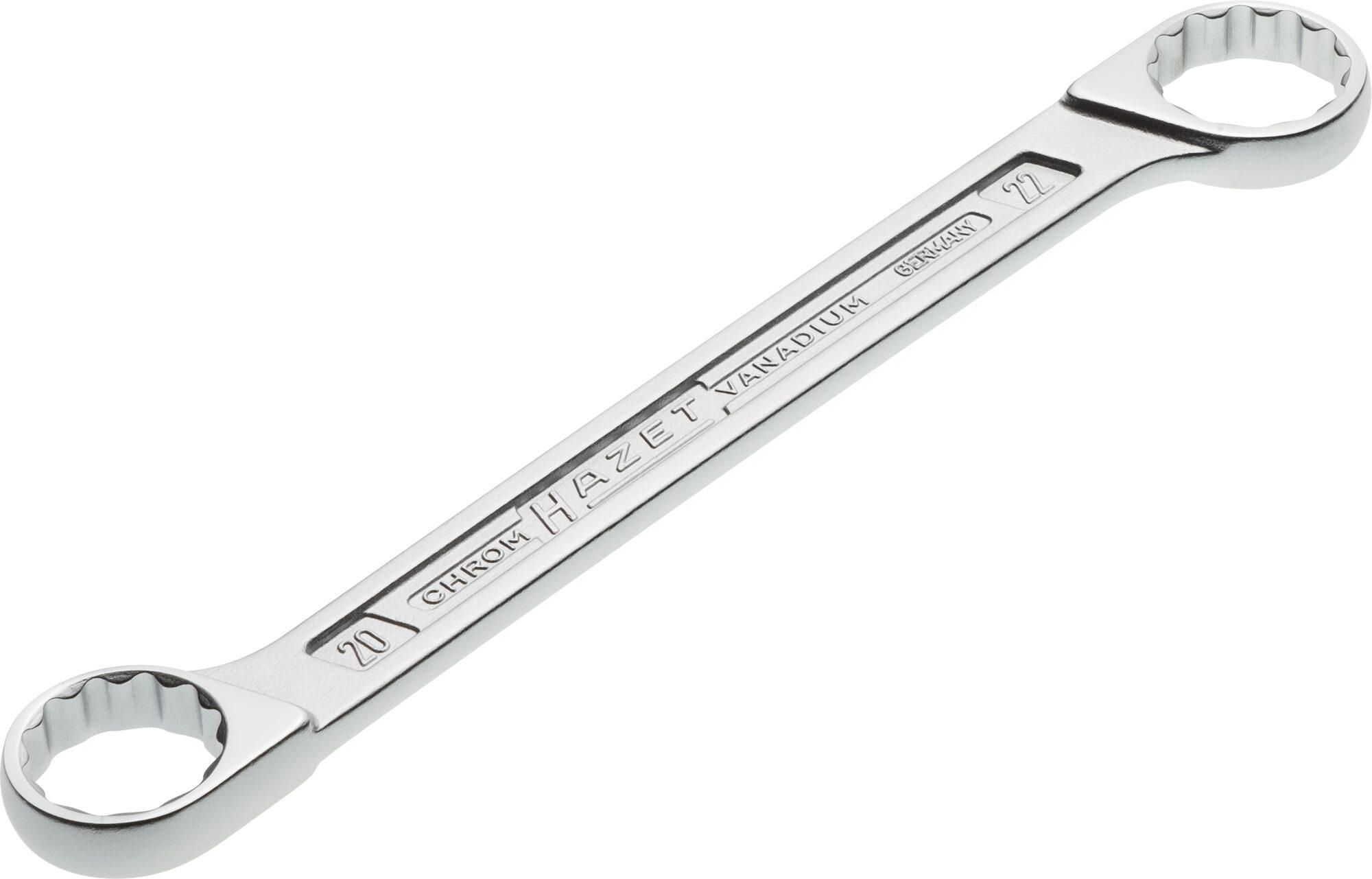 HAZET Doppel-Ringschlüssel 610N-20X22 ∙ Außen-Doppel-Sechskant-Tractionsprofil ∙ 20 x 22 mm