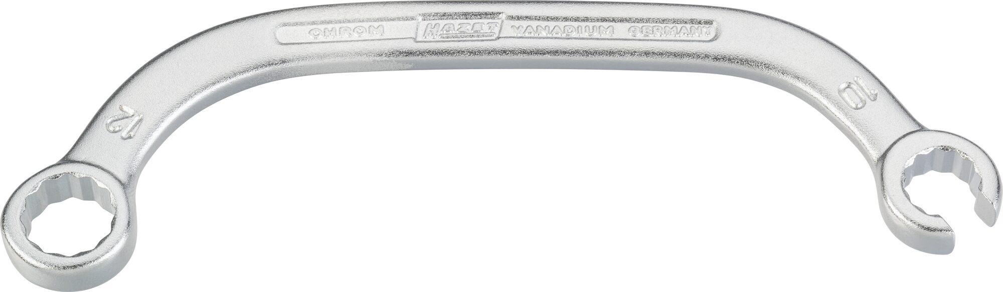 HAZET Turbolader-Schlüssel ∙ Doppelsechskant 615-S10X12 ∙ Außen-Doppel-Sechskant Profil ∙ 10 x 12 mm