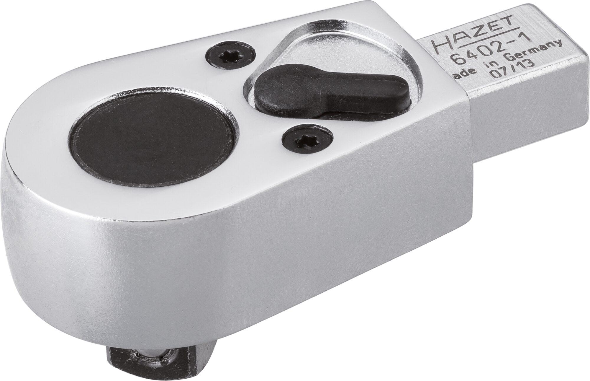HAZET Einsteck-Umschaltknarre 6402-1 ∙ Einsteck-Vierkant 9 x 12 mm ∙ Vierkant massiv 10 mm (3/8 Zoll)