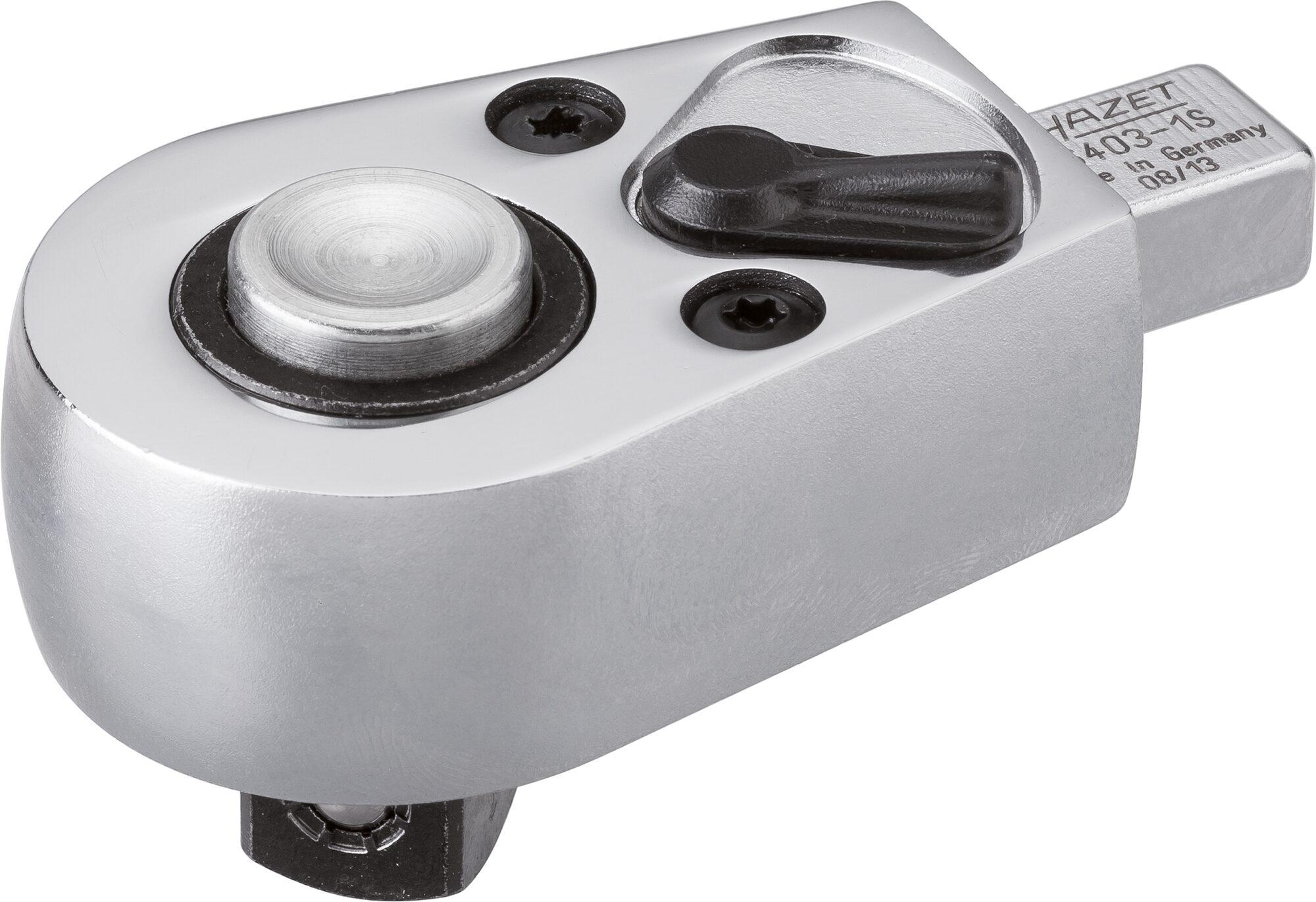 HAZET Einsteck-Umschaltknarre 6403-1S ∙ Einsteck-Vierkant 9 x 12 mm ∙ Vierkant massiv 12,5 mm (1/2 Zoll)