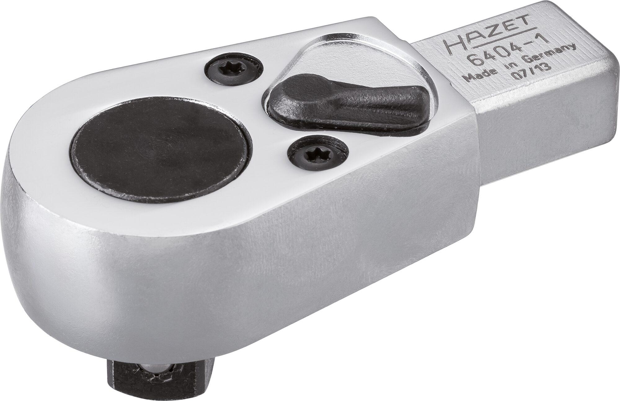 HAZET Einsteck-Umschaltknarre 6404-1 ∙ Einsteck-Vierkant 14 x 18 mm ∙ Vierkant massiv 12,5 mm (1/2 Zoll)