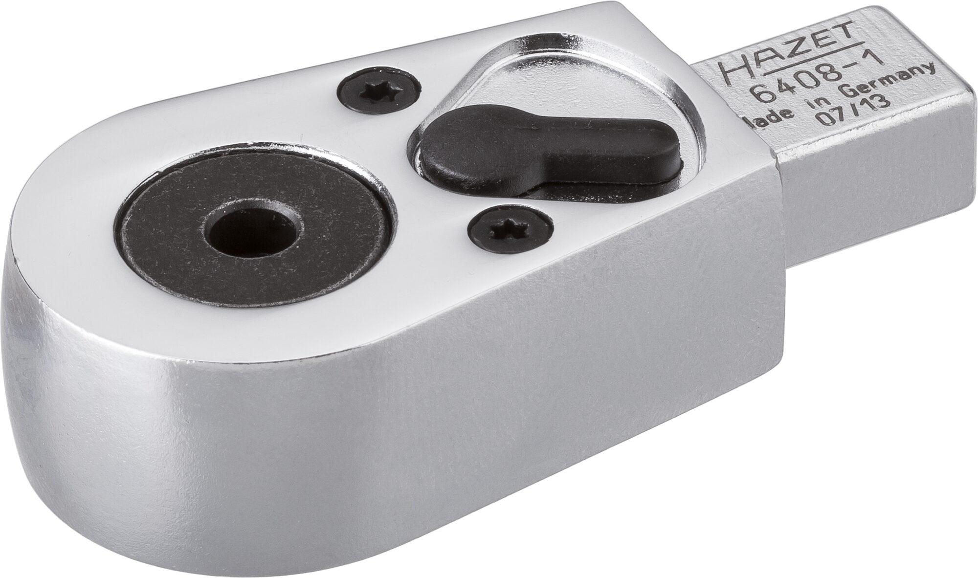 HAZET Bit Einsteck-Umschaltknarre 6408-1 ∙ Einsteck-Vierkant 9 x 12 mm