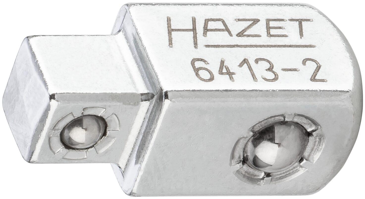 HAZET Durchsteck-Vierkant 6413-2 ∙ Vierkant massiv 10 mm (3/8 Zoll) ∙ Vierkant massiv 6,3 mm (1/4 Zoll)