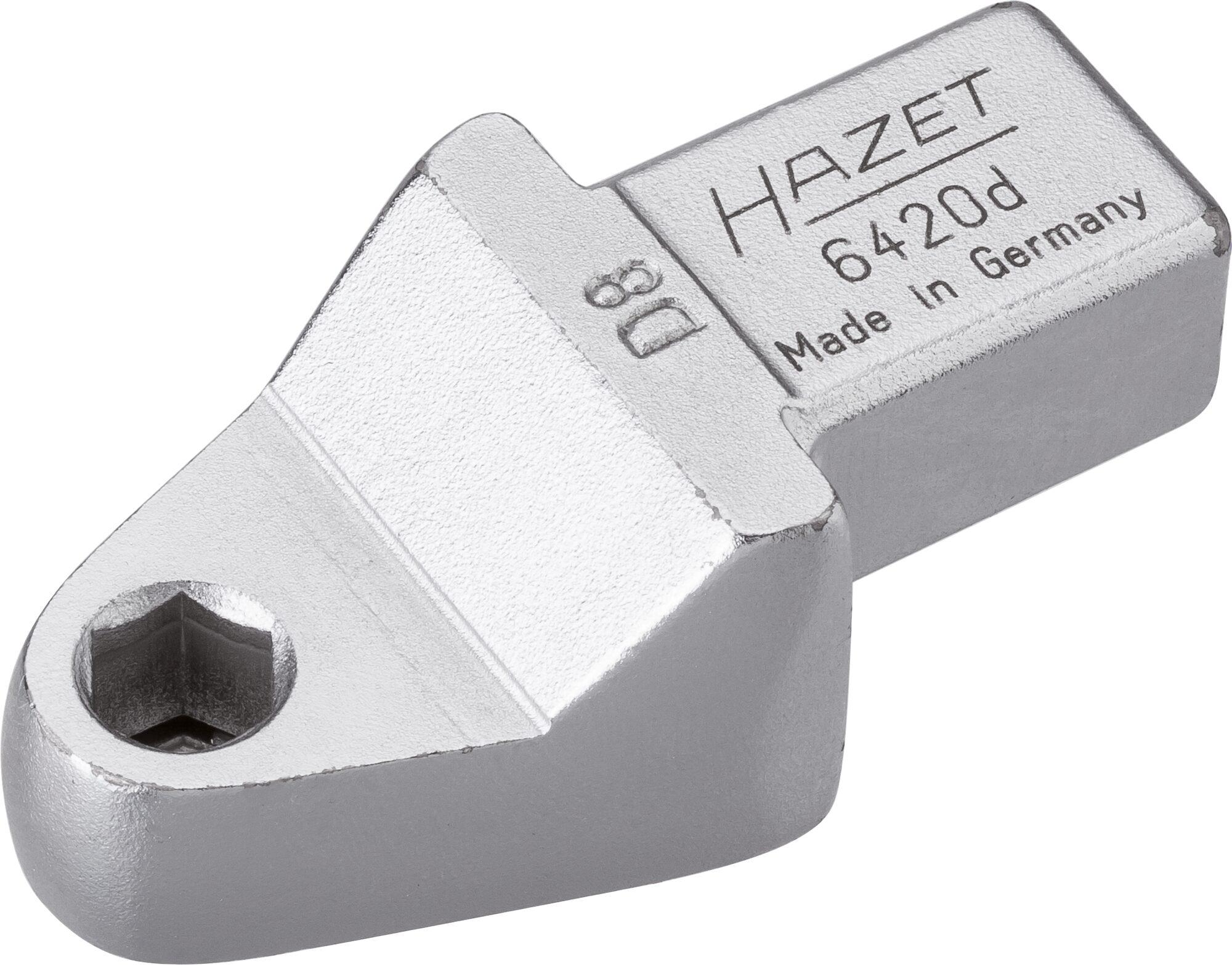 HAZET Einsteck-Halter für Bits 6420D ∙ Einsteck-Vierkant 14 x 18 mm ∙ Sechskant hohl 8 mm (5/16 Zoll)