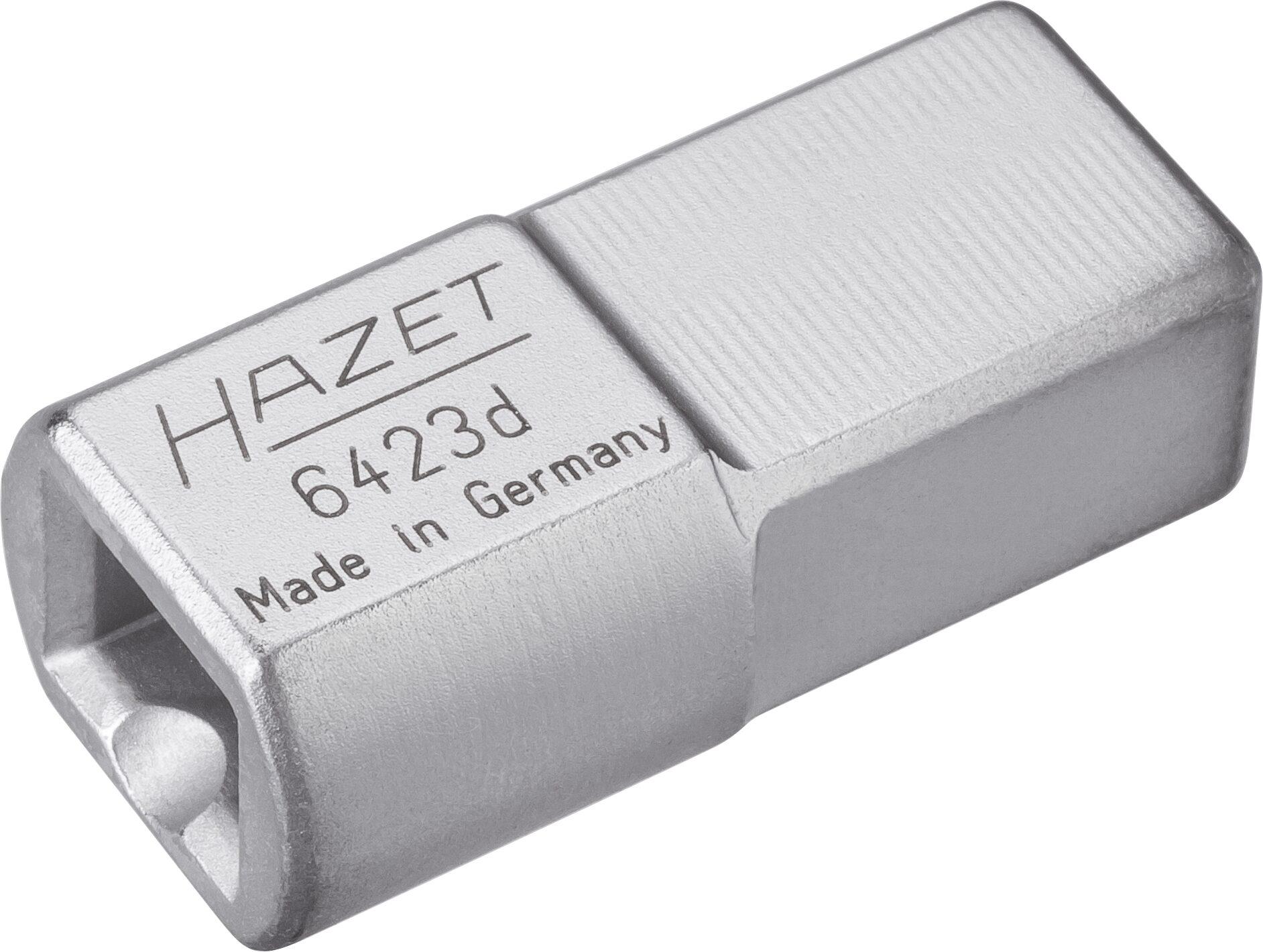 HAZET Einsteck-Adapter 6423D ∙ Einsteck-Vierkant 14 x 18 mm ∙ Einsteck-Vierkant 9 x 12 mm