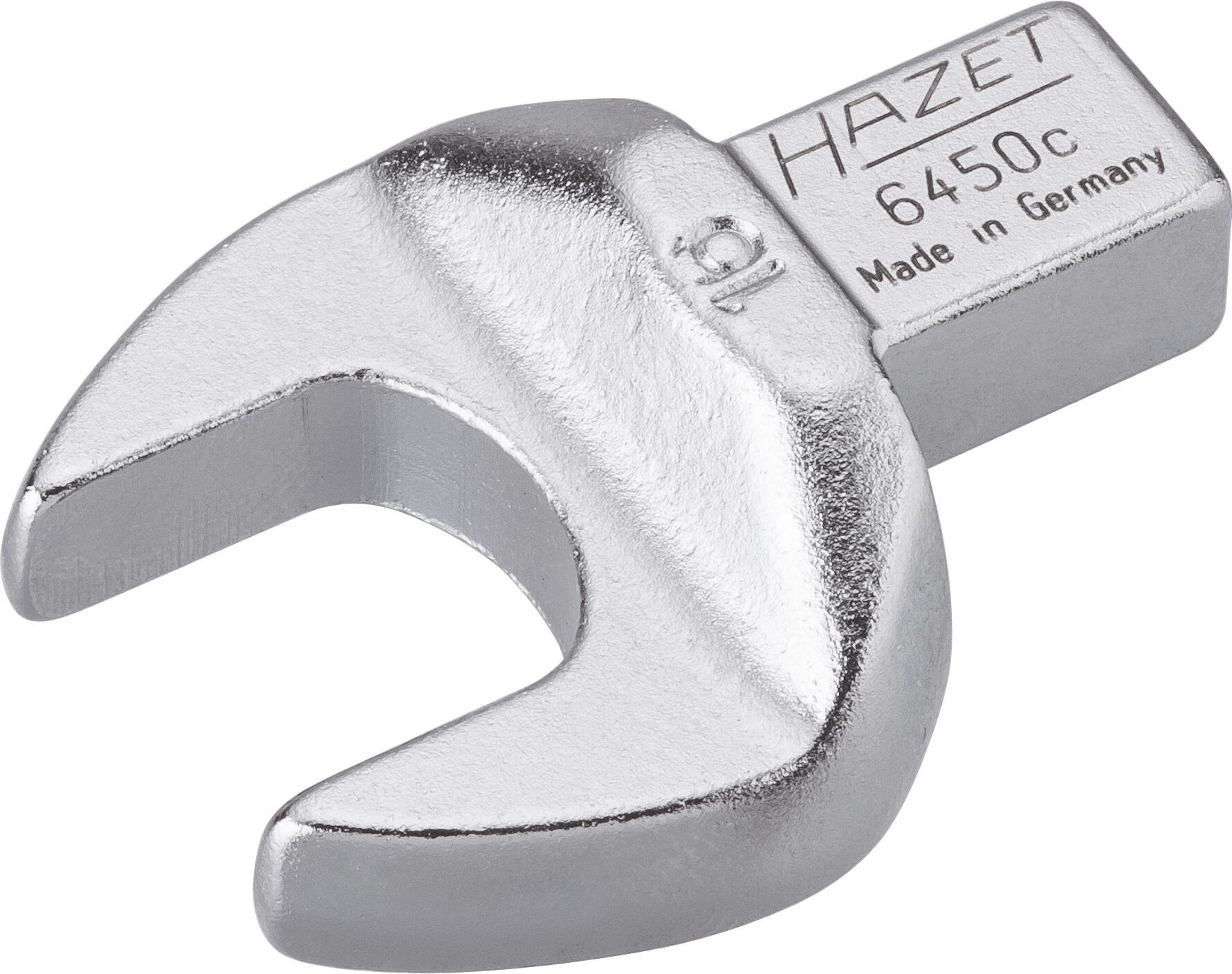 HAZET Einsteck-Maulschlüssel 6450C-16 ∙ Einsteck-Vierkant 9 x 12 mm ∙ Außen-Sechskant Profil ∙ 16 mm