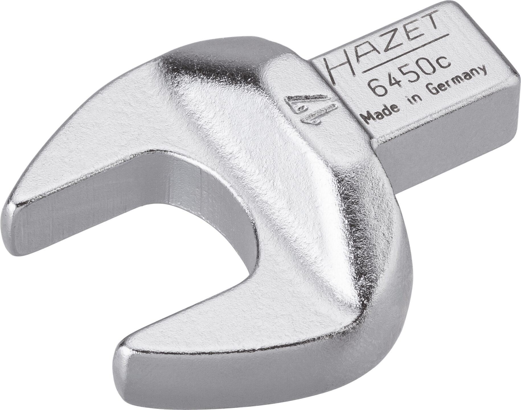 HAZET Einsteck-Maulschlüssel 6450C-17 ∙ Einsteck-Vierkant 9 x 12 mm ∙ Außen-Sechskant Profil ∙ 17 mm