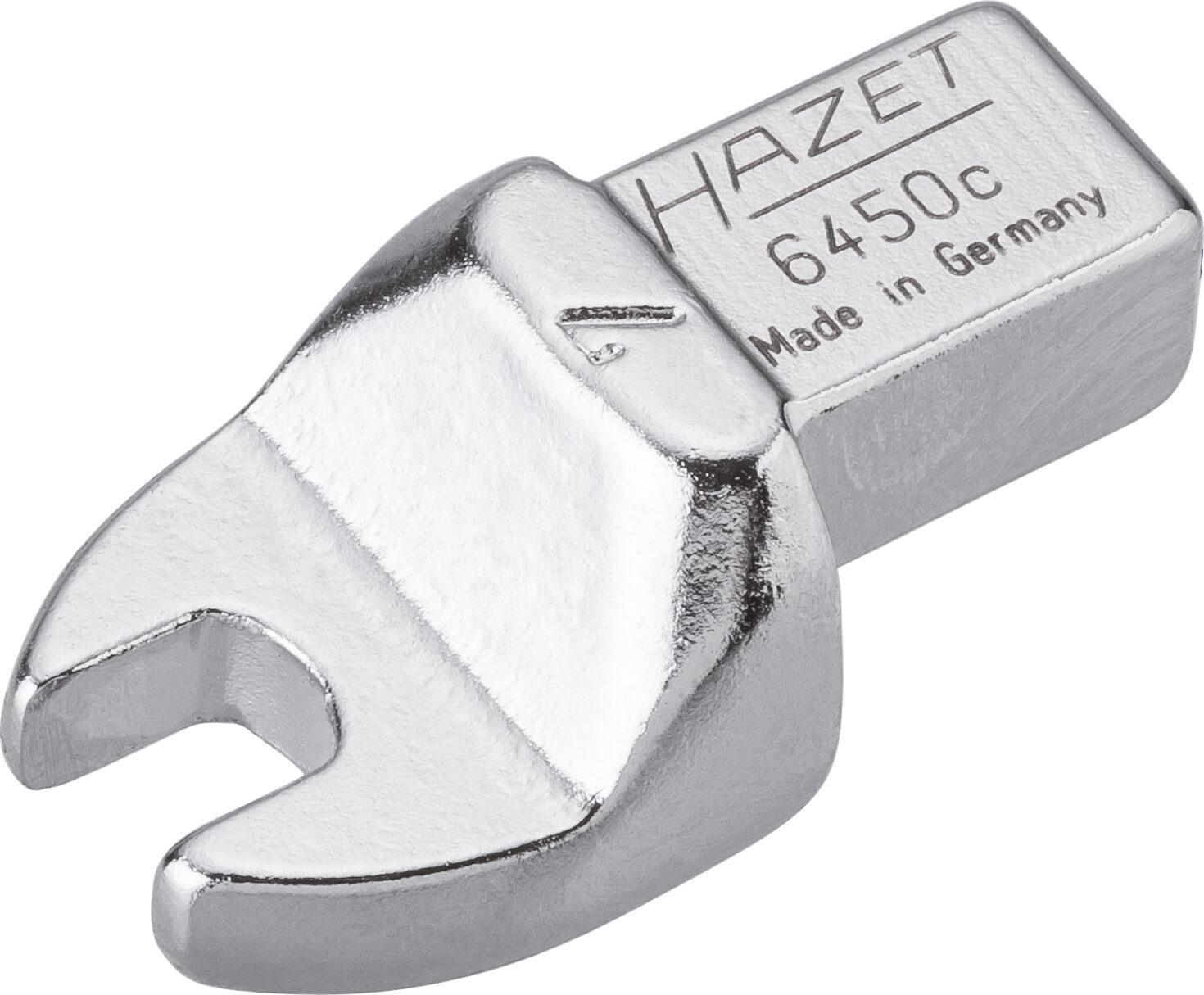 HAZET Einsteck-Maulschlüssel 6450C-7 ∙ Einsteck-Vierkant 9 x 12 mm ∙ Außen-Sechskant Profil ∙ 7 mm