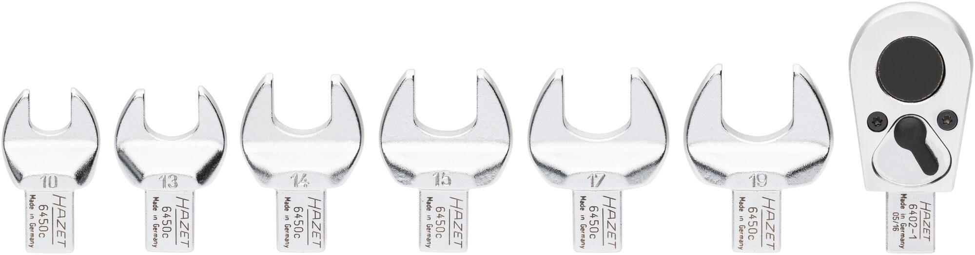 HAZET Einsteck-Werkzeug Satz 6450C/7 ∙ Einsteck-Vierkant 9 x 12 mm ∙ Anzahl Werkzeuge: 7