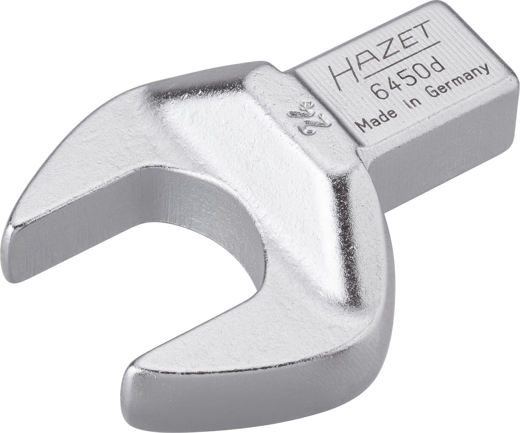 HAZET Einsteck-Maulschlüssel 6450D-24 ∙ Einsteck-Vierkant 14 x 18 mm ∙ Außen-Sechskant Profil ∙ 24 mm