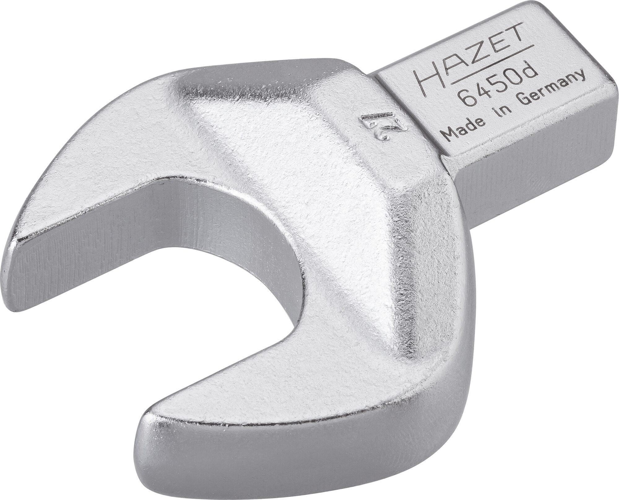 HAZET Einsteck-Maulschlüssel 6450D-27 ∙ Einsteck-Vierkant 14 x 18 mm ∙ Außen-Sechskant Profil ∙ 27 mm