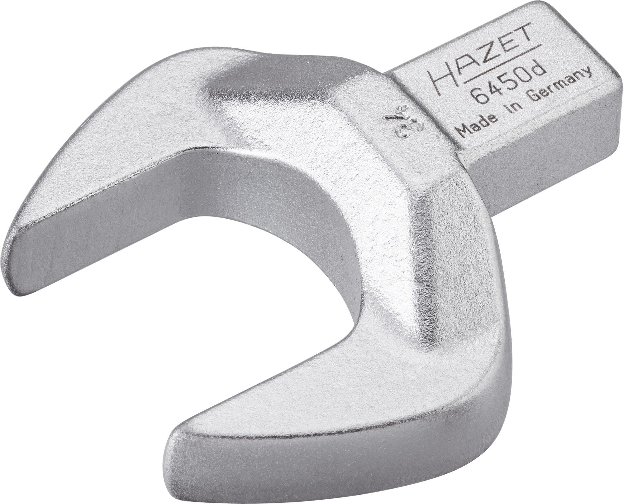 HAZET Einsteck-Maulschlüssel 6450D-34 ∙ Einsteck-Vierkant 14 x 18 mm ∙ Außen-Sechskant Profil ∙ 34 mm