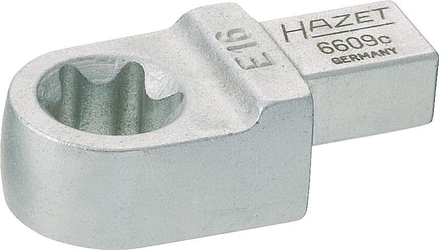 HAZET Einsteck TORX® Ringschlüssel 6609C-E16 ∙ Einsteck-Vierkant 9 x 12 mm ∙ Außen TORX® Profil ∙ E16