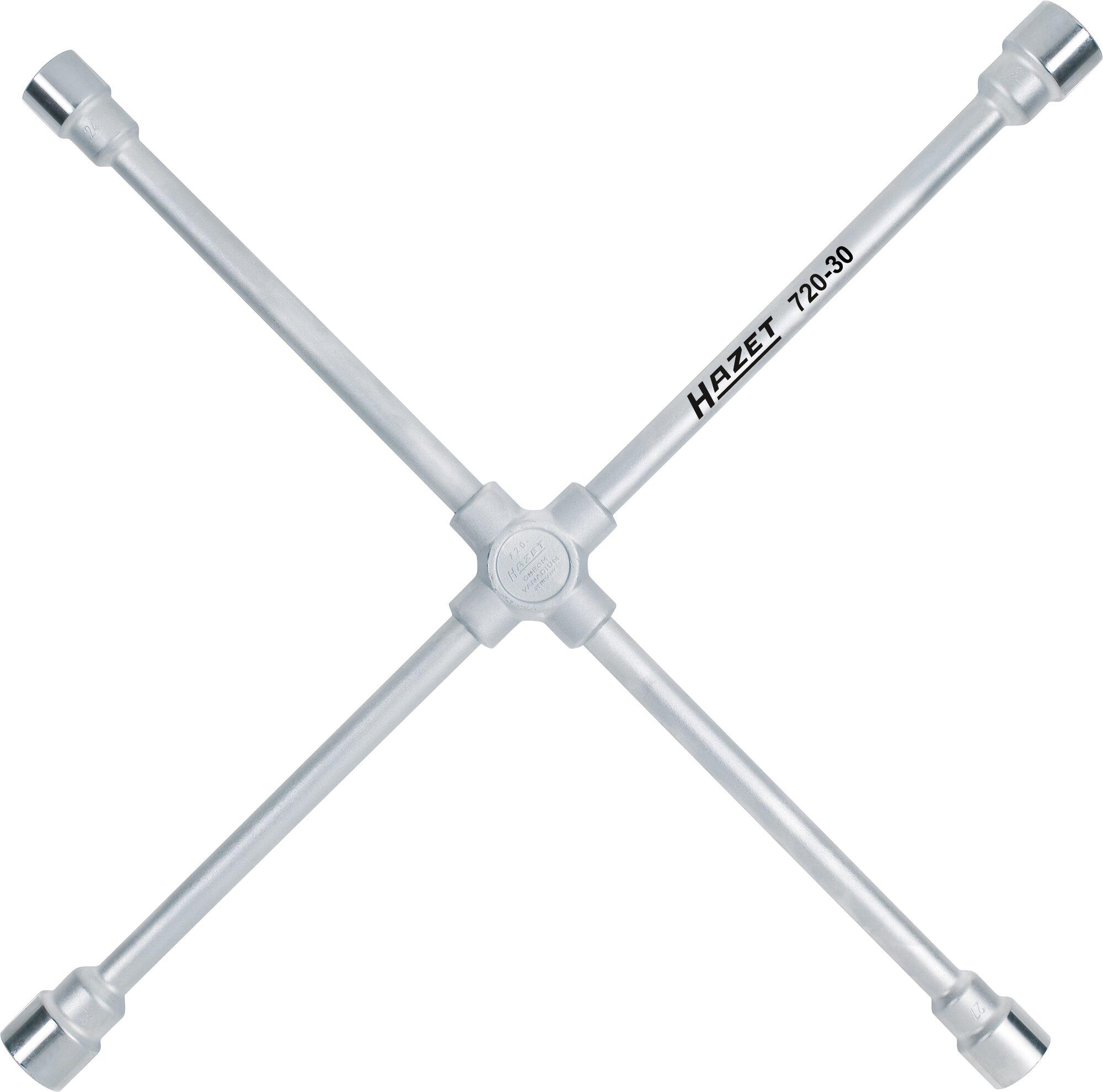 HAZET Kreuzschlüssel 720-30 ∙ Außen-Sechskant Profil ∙ 24x27x30x32 mm