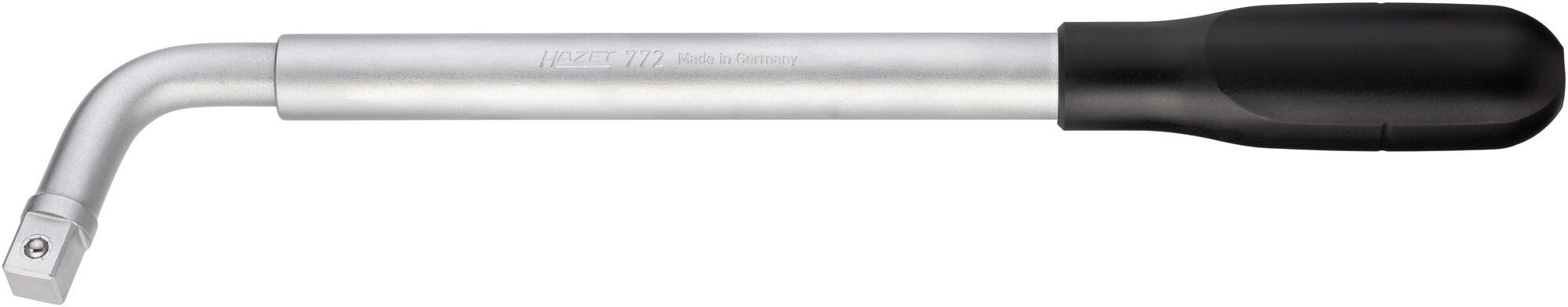 HAZET Ausziehbarer Radmuttern-Schlüssel 772 ∙ Vierkant massiv 12,5 mm (1/2 Zoll) ∙ Außenvierkant Antrieb 12,5 = 1/2 Zoll
