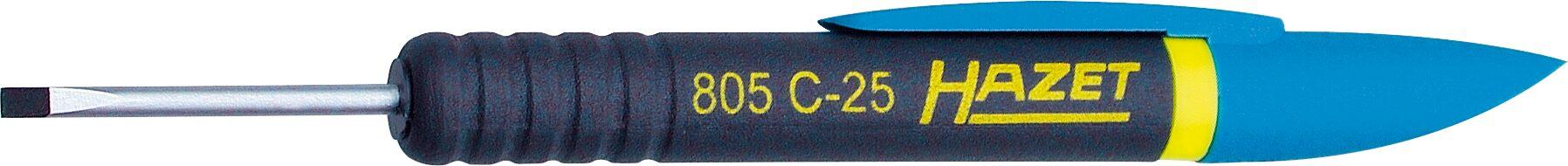 HAZET Clip-Schraubendreher 805C-25 ∙ Schlitz Profil ∙ 0.4 x 2.5 mm