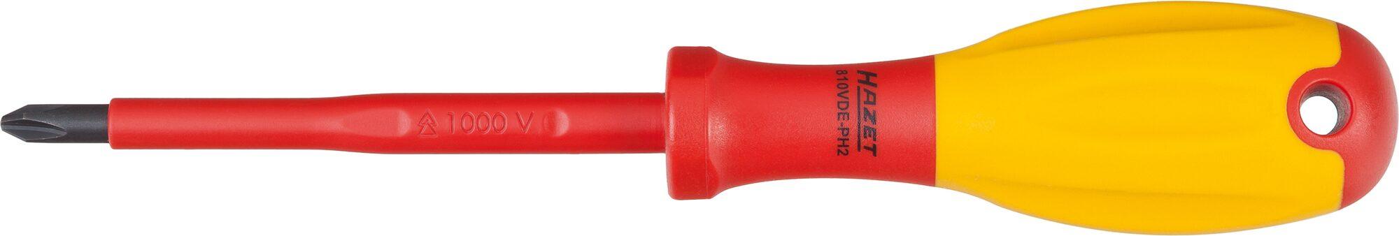 HAZET Elektriker-Schraubendreher ∙ schutzisoliert 810VDE-PH1 ∙ Kreuzschlitz Profil PH ∙ PH1