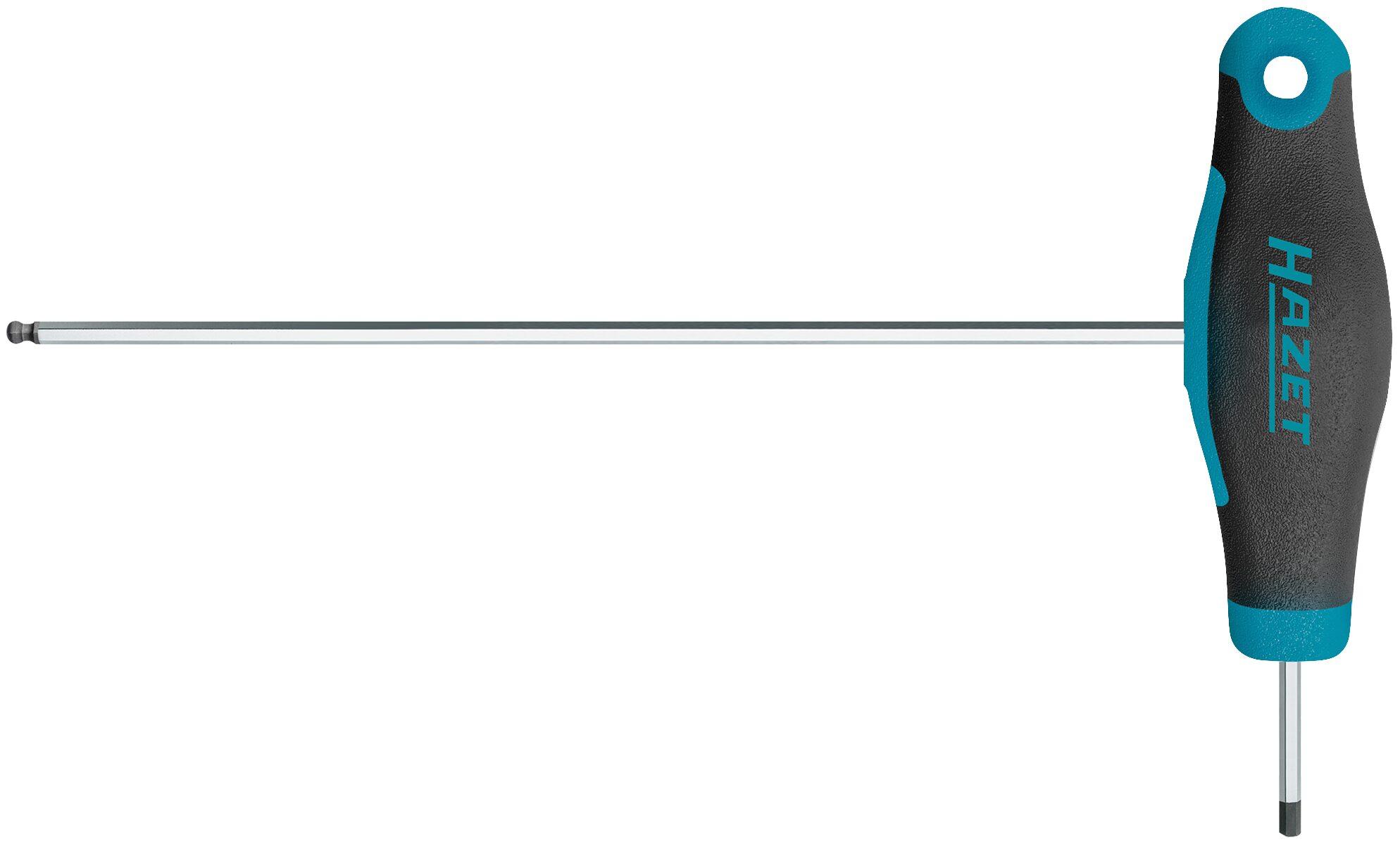 HAZET Schraubendreher ∙ mit T-Griff 829KK-2 ∙ Innen-Sechskant Profil ∙ 2 mm