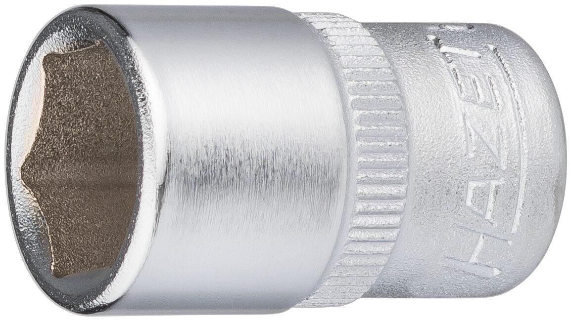 HAZET Steckschlüsseleinsatz ∙ Sechskant 850-11 ∙ Vierkant hohl 6,3 mm (1/4 Zoll) ∙ Außen-Sechskant-Tractionsprofil