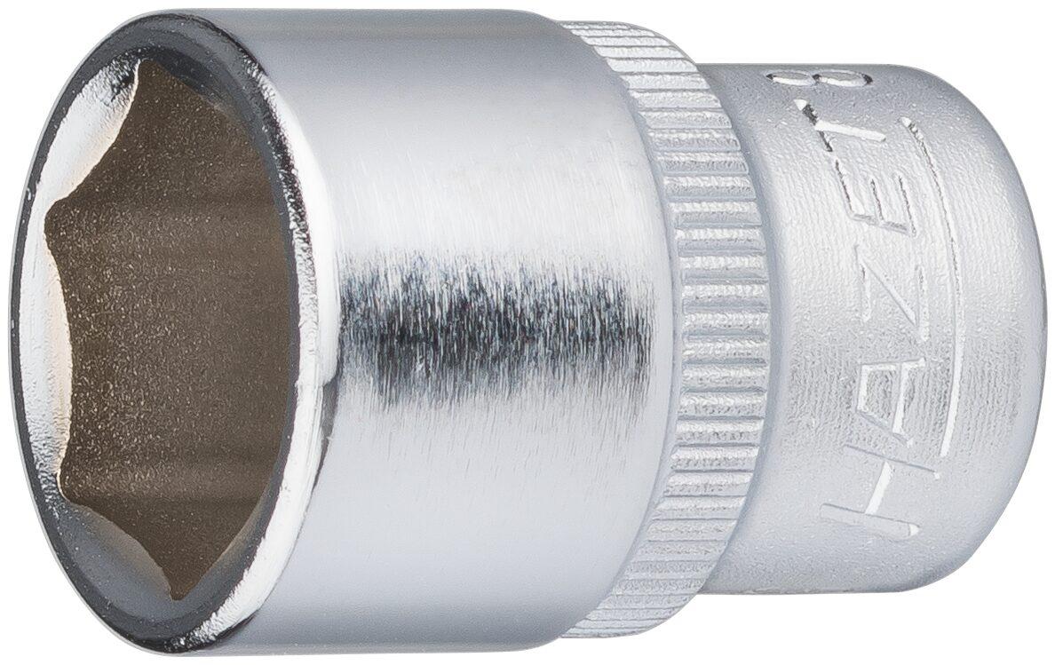 HAZET Steckschlüsseleinsatz ∙ Sechskant 850-13 ∙ Vierkant hohl 6,3 mm (1/4 Zoll) ∙ Außen-Sechskant-Tractionsprofil