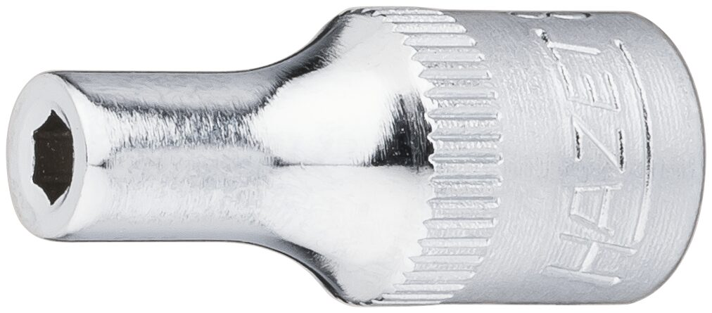 HAZET Steckschlüsseleinsatz ∙ Sechskant 850-3 ∙ Vierkant hohl 6,3 mm (1/4 Zoll) ∙ Außen-Sechskant-Tractionsprofil