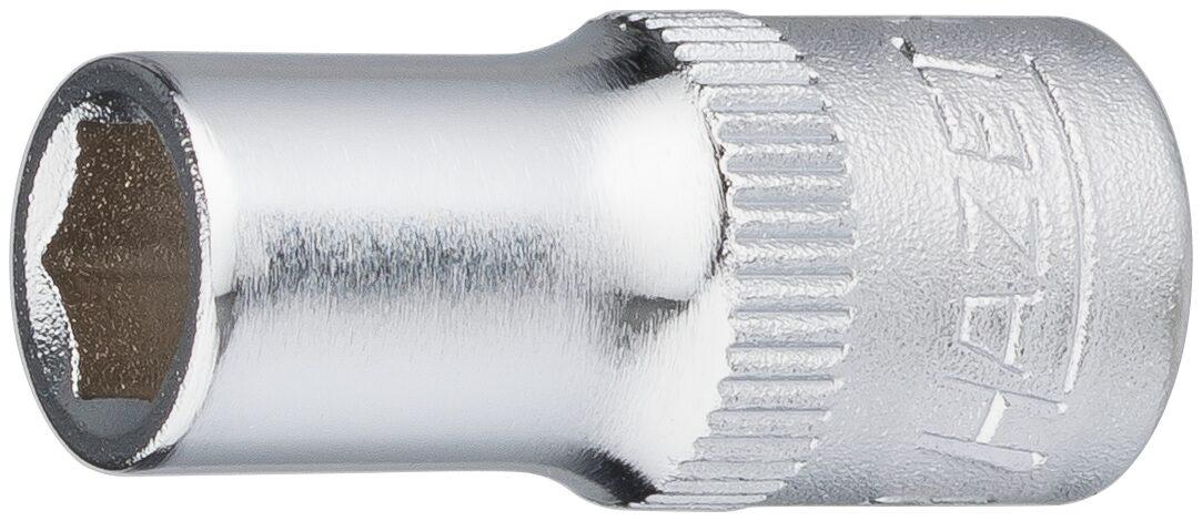 HAZET Steckschlüsseleinsatz ∙ Sechskant 850-6 ∙ Vierkant hohl 6,3 mm (1/4 Zoll) ∙ Außen-Sechskant-Tractionsprofil