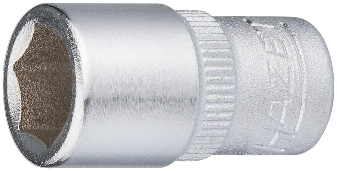 HAZET Steckschlüsseleinsatz ∙ Sechskant 850-9 ∙ Vierkant hohl 6,3 mm (1/4 Zoll) ∙ Außen-Sechskant-Tractionsprofil