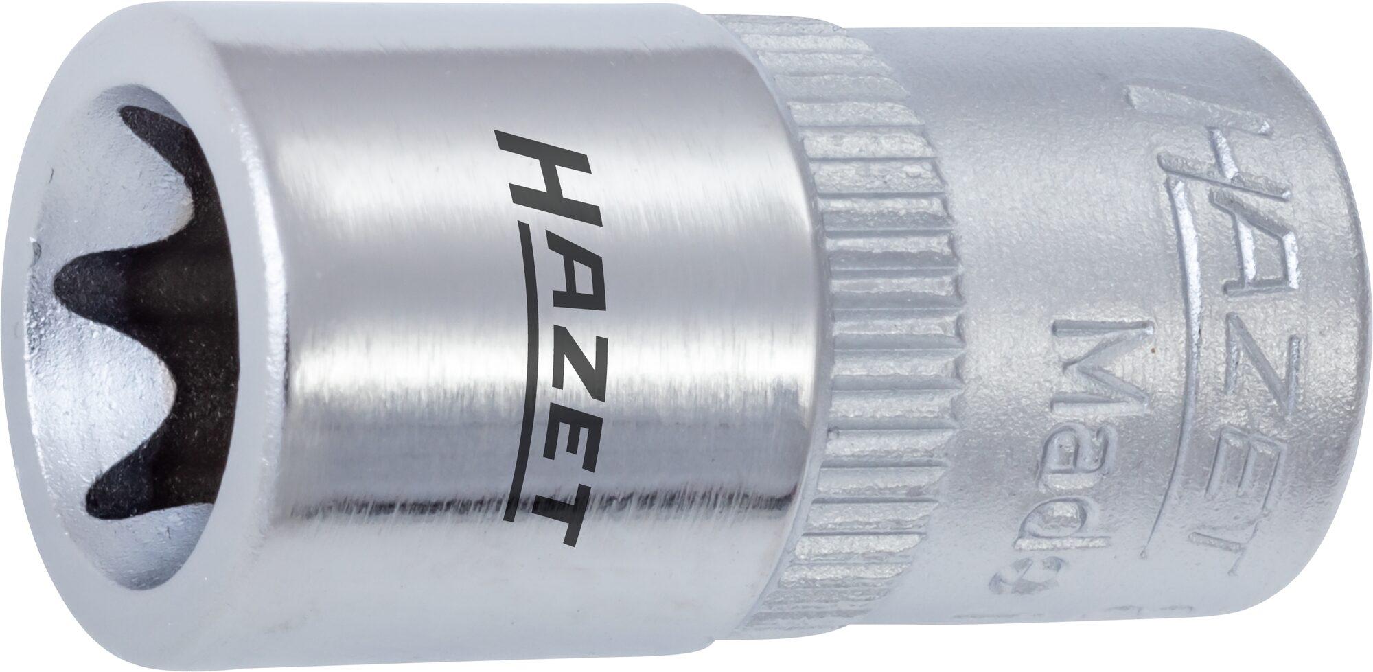 HAZET Steckschlüsseleinsatz TORX® 850-E4 ∙ Vierkant hohl 6,3 mm (1/4 Zoll) ∙ Außen TORX® Profil ∙ E4