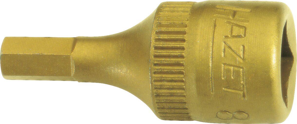 HAZET Schraubendreher-Steckschlüsseleinsatz 8501-4 ∙ Vierkant hohl 6,3 mm (1/4 Zoll) ∙ Innen-Sechskant Profil ∙ 4 mm