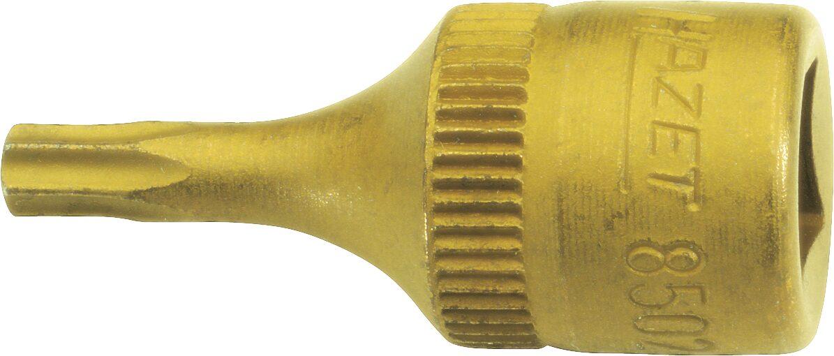 HAZET Schraubendreher-Steckschlüsseleinsatz TORX® 8502-T27 ∙ Vierkant hohl 6,3 mm (1/4 Zoll) ∙ Innen TORX® Profil