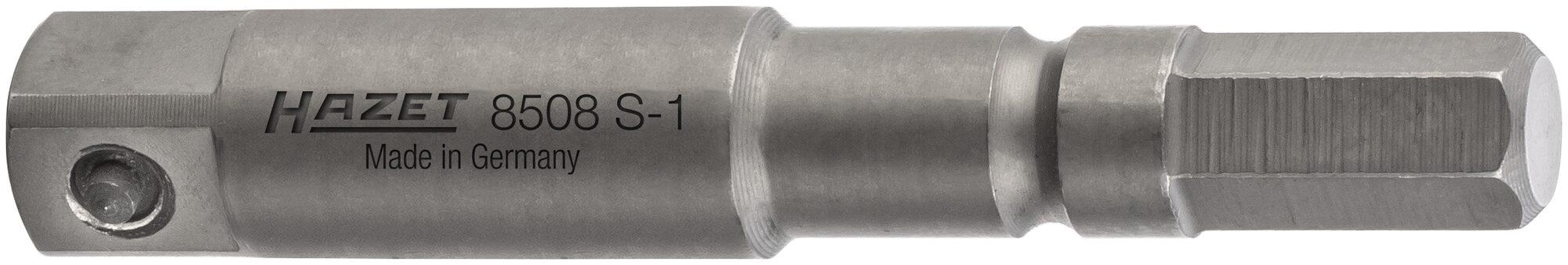 HAZET Schlag- ∙ Maschinenschrauber Adapter 8508S-1 ∙ Sechskant massiv ISO 1173-A 5,5 ∙ Vierkant massiv 6,3 mm (1/4 Zoll)