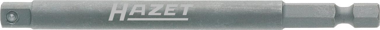 HAZET Schlag- ∙ Maschinenschrauber Adapter 8508S-3 ∙ Sechskant massiv 6,3 (1/4 Zoll) ∙ Vierkant massiv 6,3 mm (1/4 Zoll)