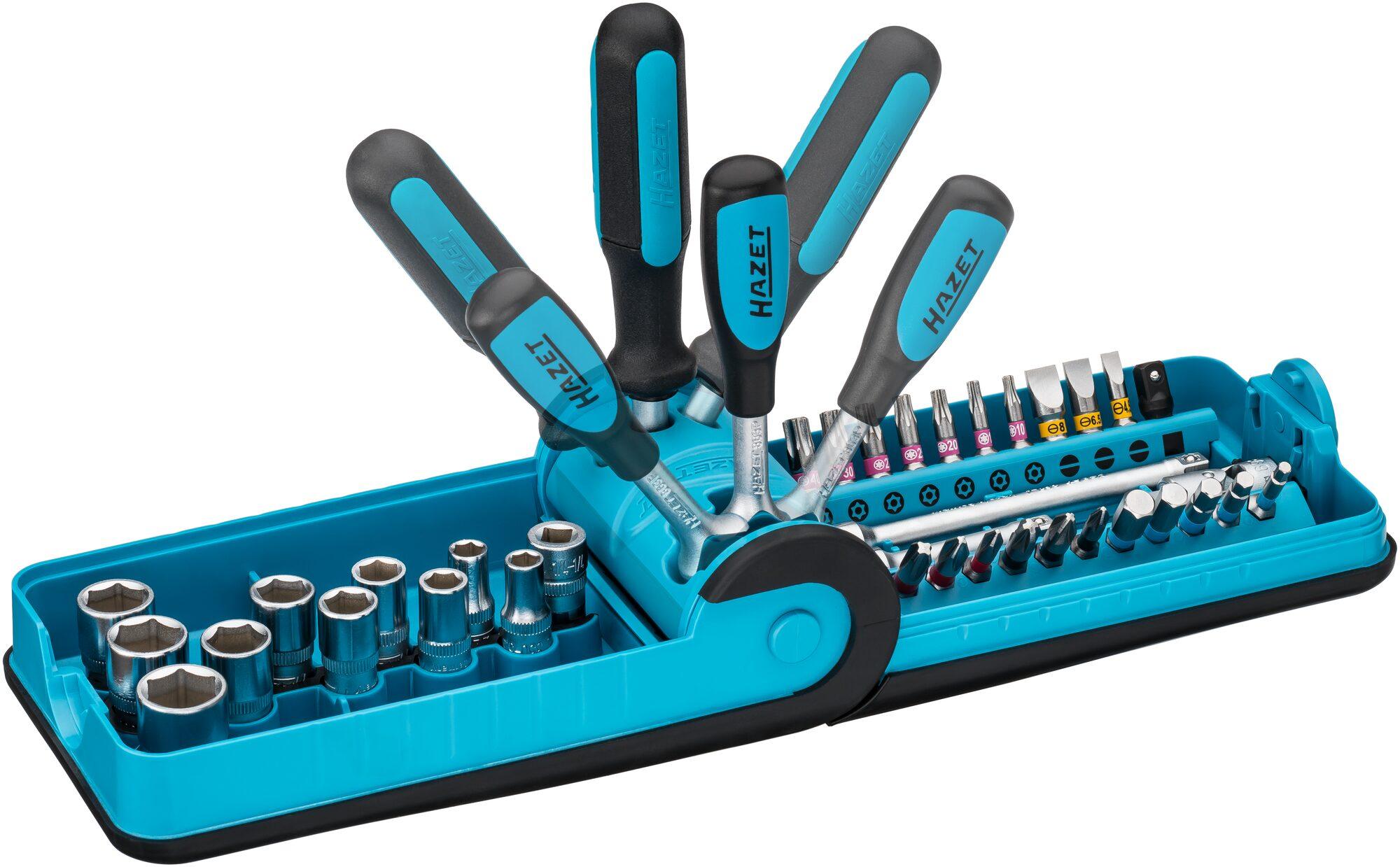 """HAZET Steckschlüssel- und Bit Satz """"Smart Case"""" 856-1 ∙ Anzahl Werkzeuge: 38"""