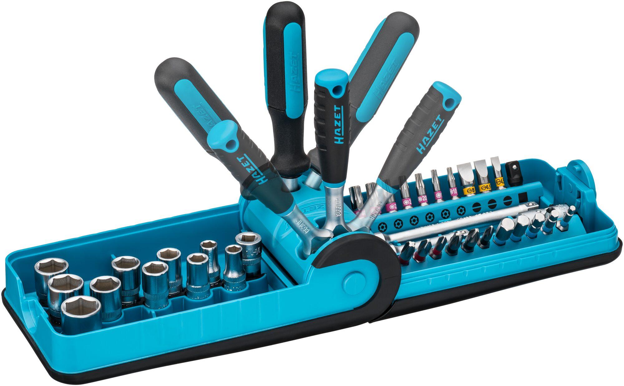 """HAZET Steckschlüssel- und Bit Satz """"Smart Case"""" 856-1HP ∙ Anzahl Werkzeuge: 38"""