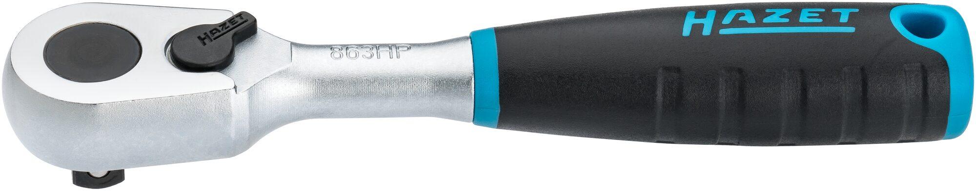 HAZET HiPer Feinzahn-Umschaltknarre 863HP ∙ Vierkant massiv 6,3 mm (1/4 Zoll)