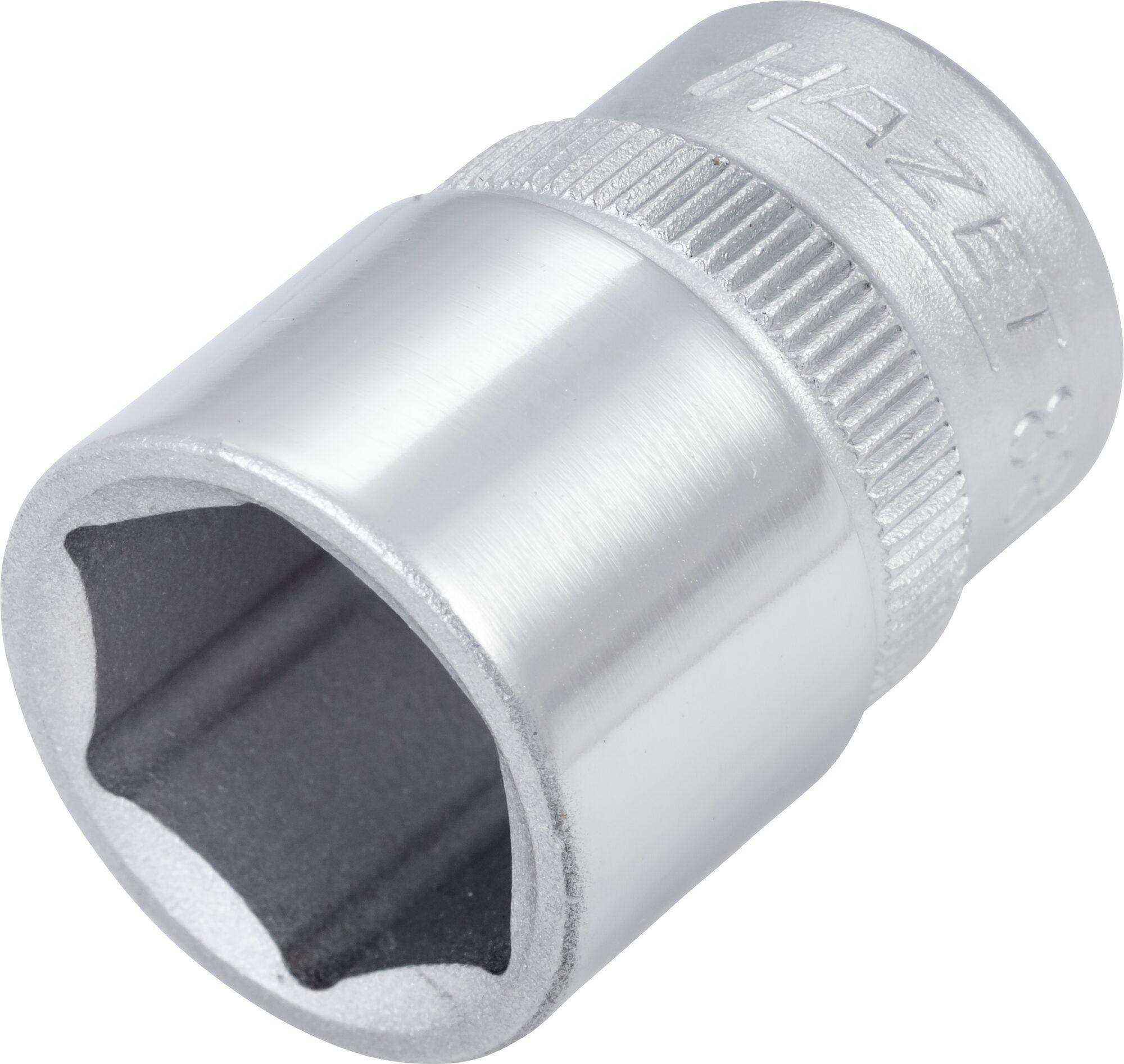 HAZET Steckschlüsseleinsatz ∙ Sechskant 880-15 ∙ Vierkant hohl 10 mm (3/8 Zoll) ∙ Außen-Sechskant-Tractionsprofil
