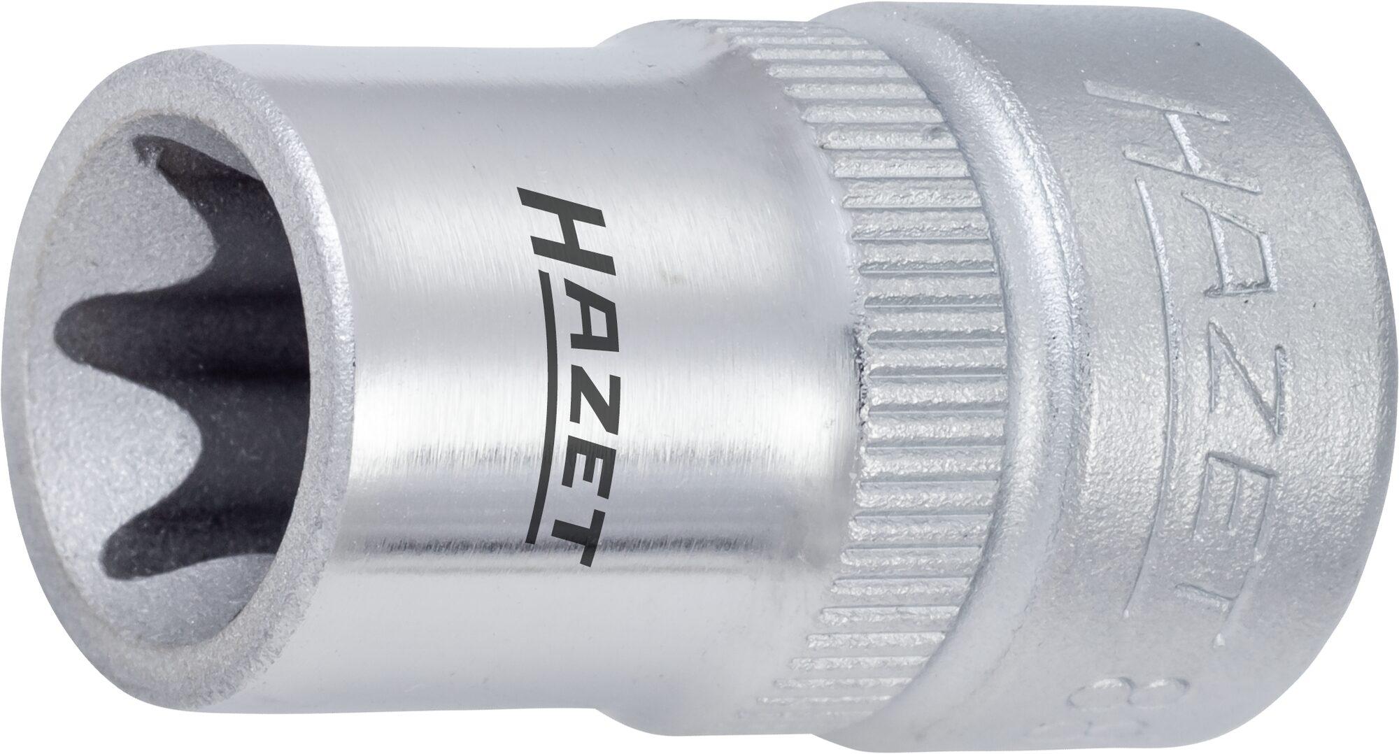 HAZET Steckschlüsseleinsatz TORX® 880-E5 ∙ Vierkant hohl 10 mm (3/8 Zoll) ∙ Außen TORX® Profil ∙ E5