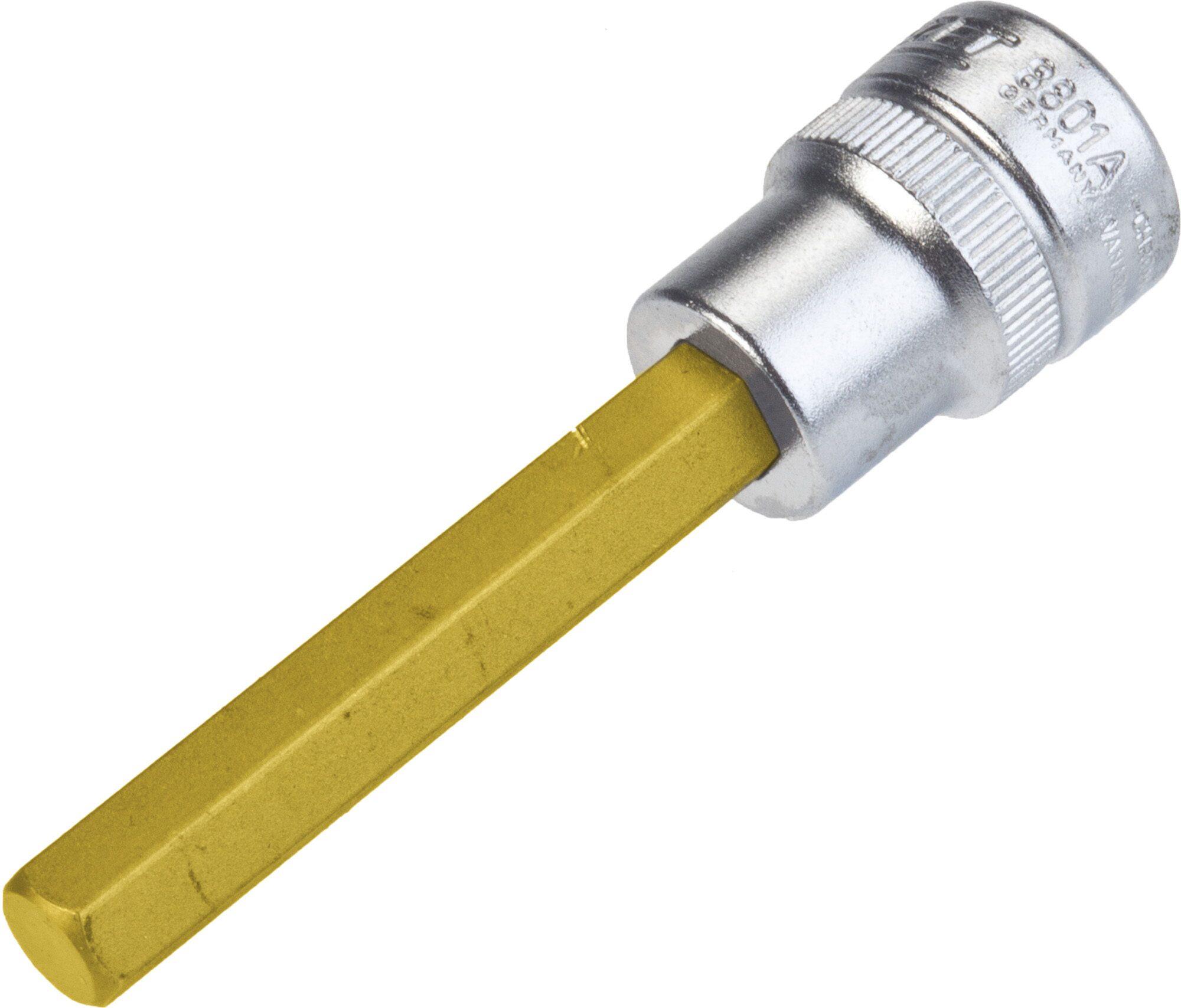 HAZET Schraubendreher-Steckschlüsseleinsatz 8801A-5/16 ∙ Vierkant hohl 10 mm (3/8 Zoll) ∙ Innen-Sechskant Profil