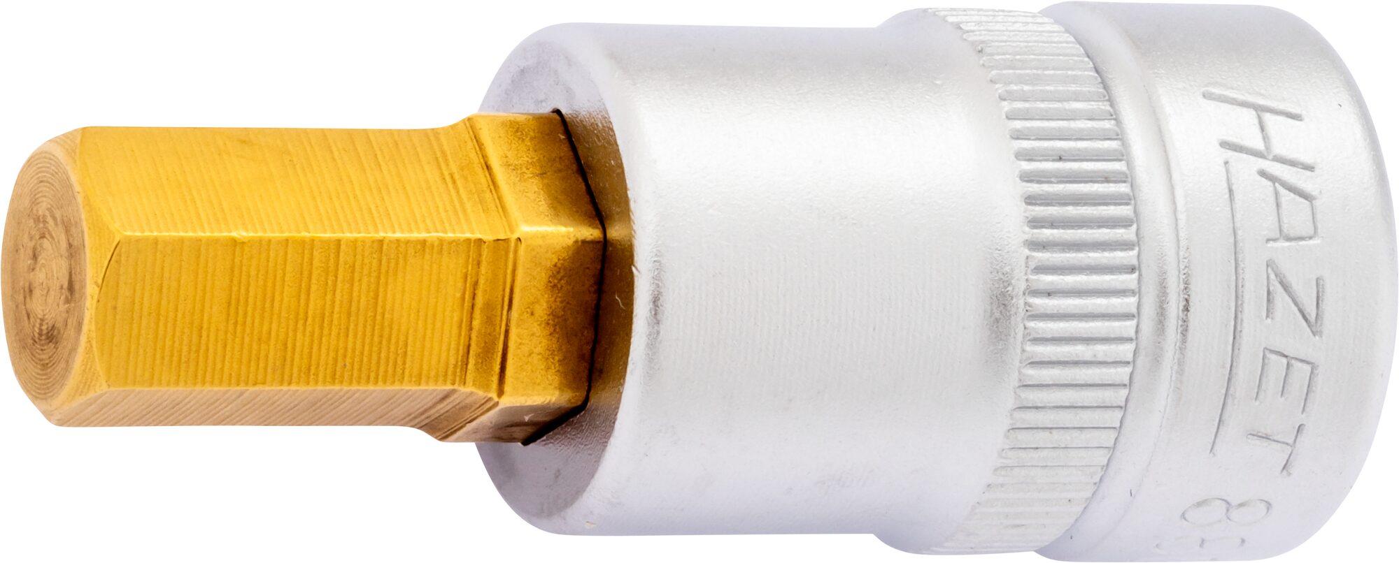 HAZET Schraubendreher-Steckschlüsseleinsatz 8801K-4 ∙ Vierkant hohl 10 mm (3/8 Zoll) ∙ Innen-Sechskant Profil ∙ 4 mm