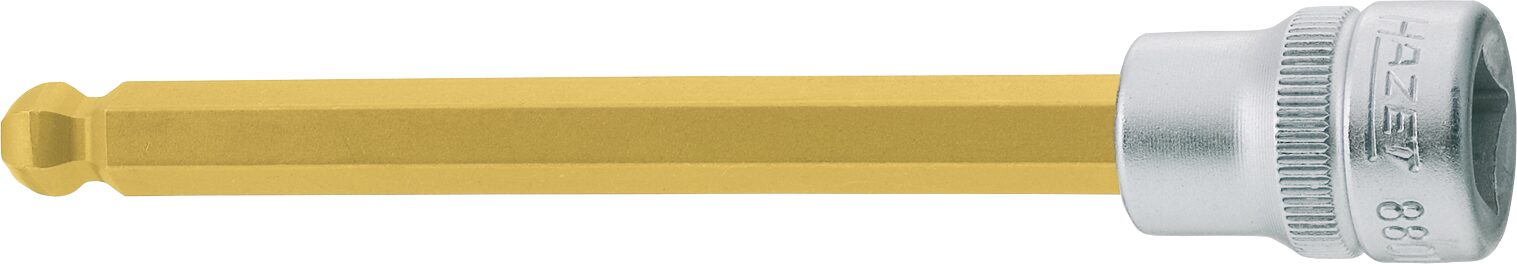 HAZET Schraubendreher-Steckschlüsseleinsatz 8801KK-10 ∙ Vierkant hohl 10 mm (3/8 Zoll) ∙ Innen-Sechskant Profil ∙ 10 mm