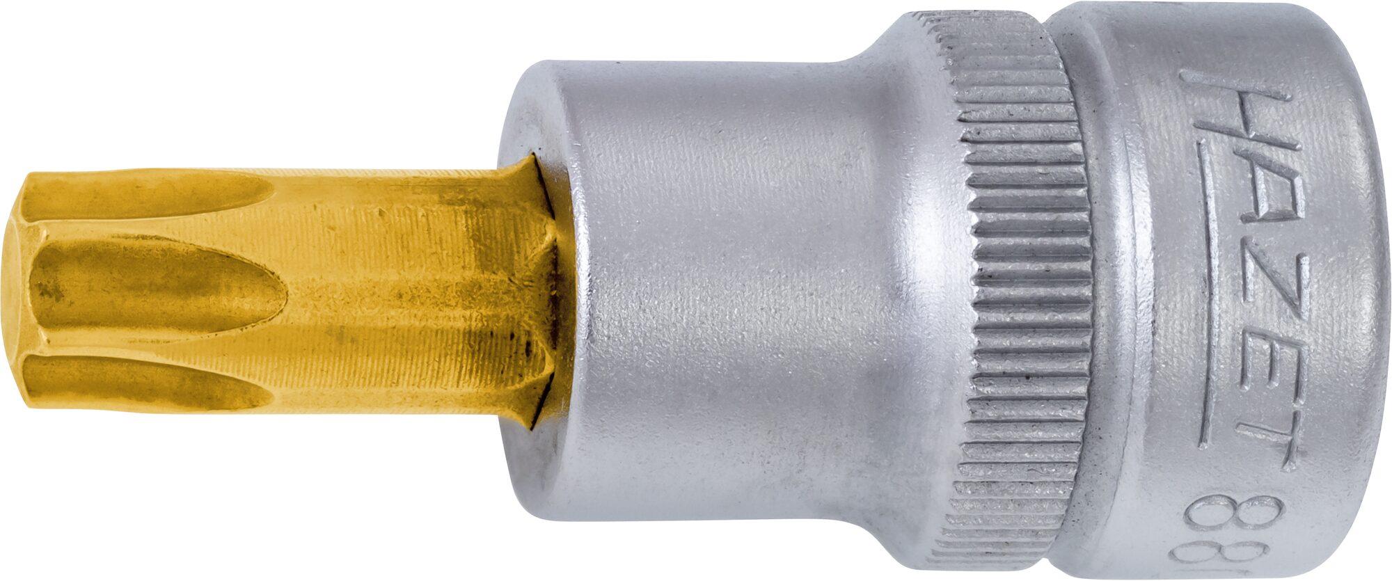 HAZET Schraubendreher-Steckschlüsseleinsatz TORX® 8802-T20 ∙ Vierkant hohl 10 mm (3/8 Zoll) ∙ Innen TORX® Profil ∙ T20