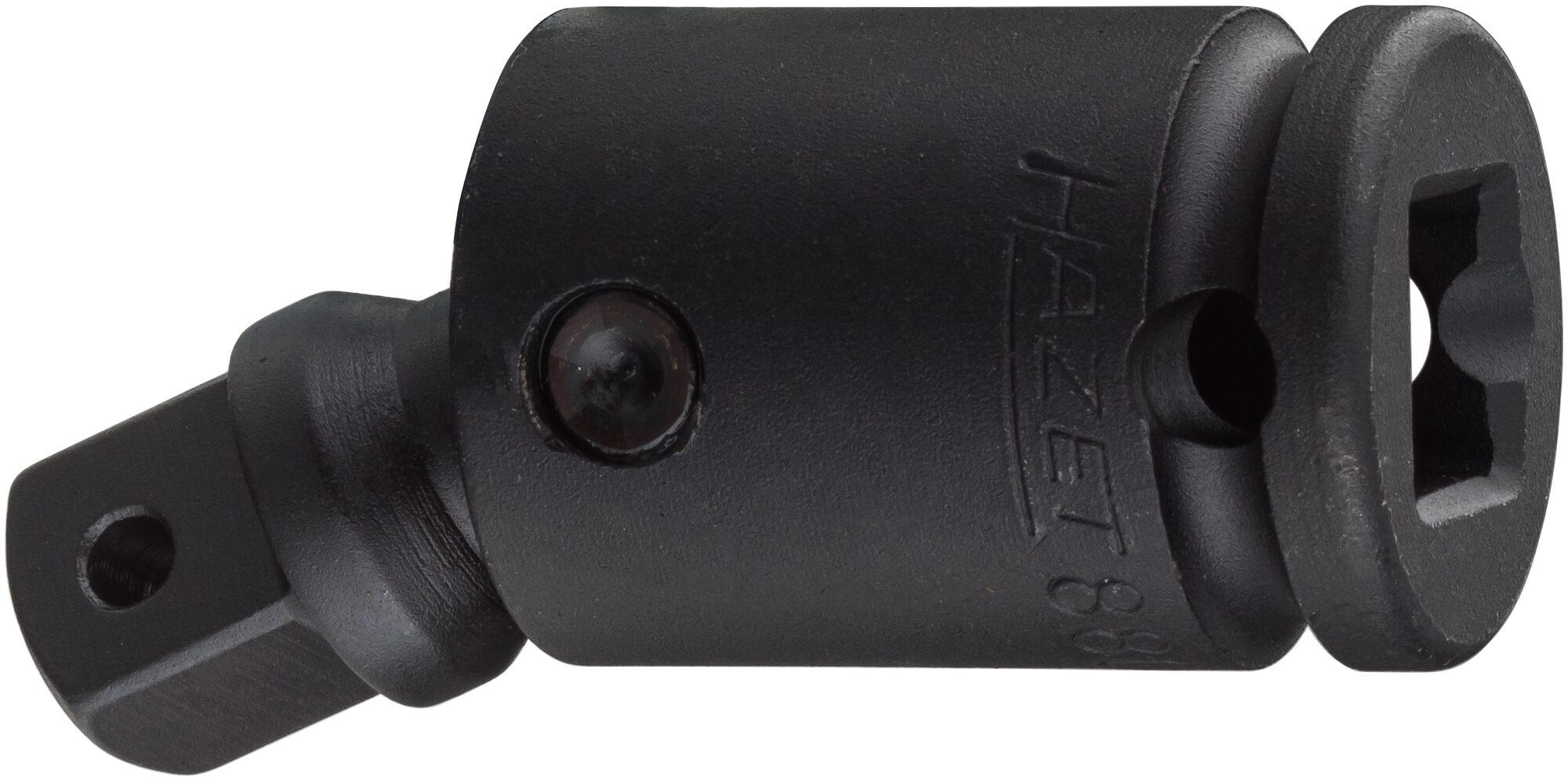 HAZET Schlag- ∙ Maschinenschrauber Gelenkstück 8806S ∙ Vierkant hohl 10 mm (3/8 Zoll) ∙ Vierkant massiv 10 mm (3/8 Zoll)