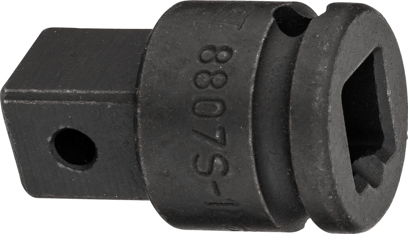 HAZET Vergrößerungsstück 8807S-1 ∙ Vierkant hohl 10 mm (3/8 Zoll) ∙ Vierkant massiv 12,5 mm (1/2 Zoll) ∙ 22 mm