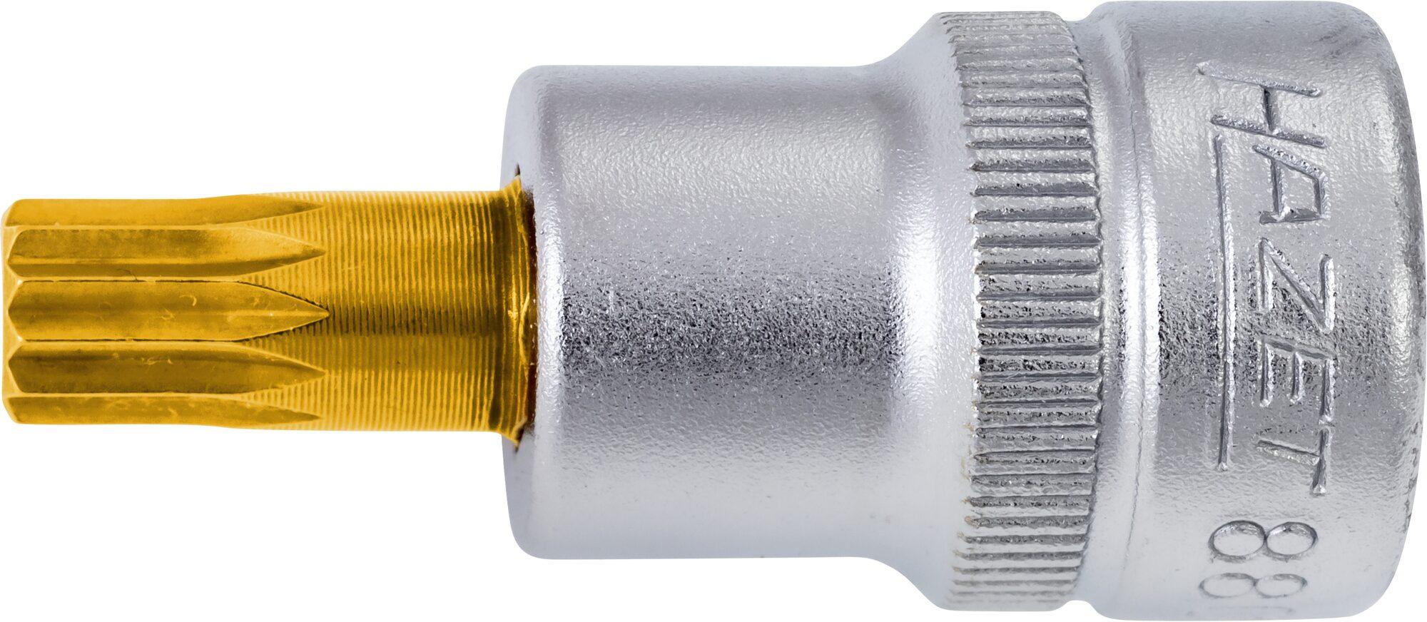 HAZET Schraubendreher-Steckschlüsseleinsatz 8808-5 ∙ Vierkant hohl 10 mm (3/8 Zoll) ∙ Innen Vielzahn Profil XZN ∙ M5